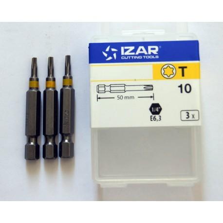 3 Embouts torx de 10 tx10 longueur 50mm