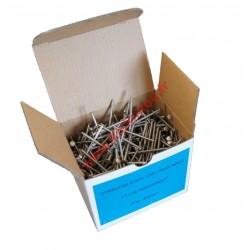 Pointes vrac 2.5x50 annelée inox A4 boite de 1Kg
