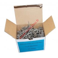 Pointes vrac 2.5x55 annelée inox A4 boite de 1Kg
