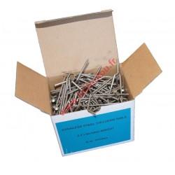 Pointes vrac 2.5x60 annelée inox A4 boite de 1Kg