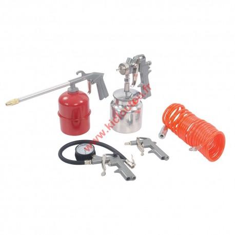 SILVERLINE 633548 Coffret 5 accessoires outils pneumatiques