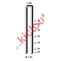 Agrafes 90 - 40mm Inox - Boite de 5000