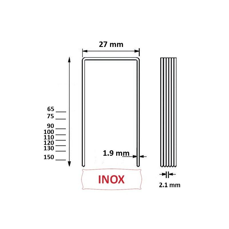 agrafes bs 100mm inox a2 ou alsafix wp pour panneau. Black Bedroom Furniture Sets. Home Design Ideas