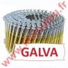 Clous 16° 2.1x45 mm crantées galva en rouleaux plats fil métal