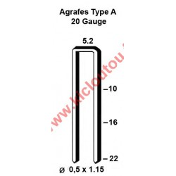 Silverline 868689 Agrafes type A - 10mm Galva - Boite de 5000