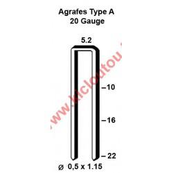Silverline 282514 Agrafes type A - 22mm Galva - Boite de 5000