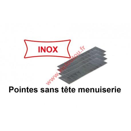 Pointes finettes sans tête 0.6 23GA - 18 mm inox A2 X 20000