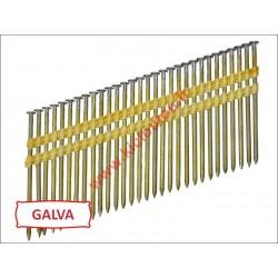 Pointes 20° GALVA 12µ TORSADEES 4.6x145 boite de 1000