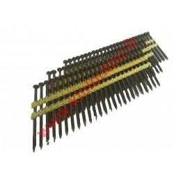 Mecafer – Lot de 500 clous de 75mm galva à tête pleine ronde