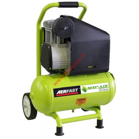 Aerfast-Mecair MA12120 Compresseur d'air sans huile 10bar 12 litres