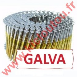 Pointes en rouleaux 16° 2.5x60 mm crantées galva à chaud 25µ HDG