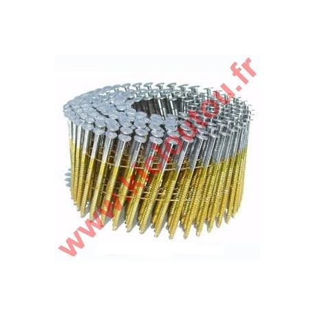 Pointes 16° 2.5x45 mm acier crantées en rouleaux plats fil métal