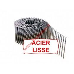 Pointes 16° 2.5x60 mm lisses en rouleaux plats fil métal X 7200