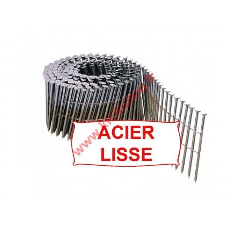 Clous en rouleaux plats 16° 2.5x65 mm lisses fil métal pour cloueur pneumatique