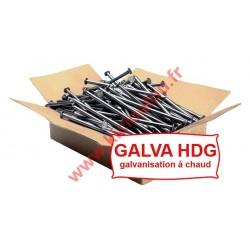 Pointe tête plate galvanisé à chaud HDG 5X110 Lisse5KG