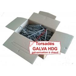 Pointe tête plate galva HDG 3.6X90 torsadée 5KG