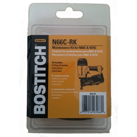 N66C-RK Kit joints reparation BOSTITCH N66C et N75C avec vue éclatée