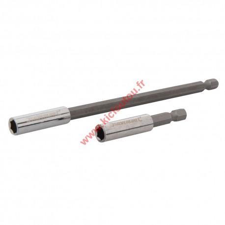 2 Porte embouts magnetique 1/4 60mm et 150 mm Silverline 436745