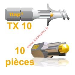 Embouts Torx Ttap TX10 25mm Blister de 10 embouts