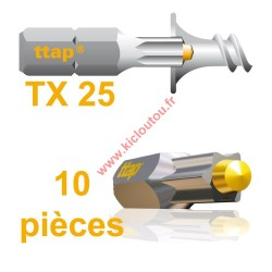 Embouts Torx Ttap TX25 25mm Blister de 10 embouts