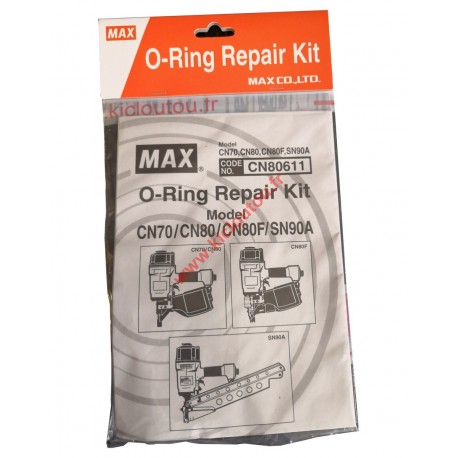 Pochette Max O-Ring Repair Kit CN80611 Cloueur MAX CN70, CN80, CN80F et SN90A
