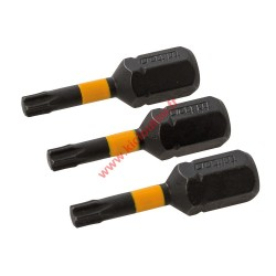 3 Embouts vissage chocs T15 25mm torx de 15 Triton TPTA51738681