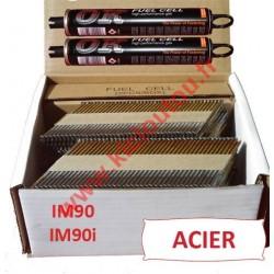 Pack 2200 clous 3.1x75 CRANTEES ACIER pour Paslode IM90I/IM90