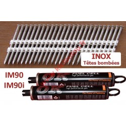Pack 2200 clous 3.1x50 TB INOX A2 pour Paslode IM90 / IM90I