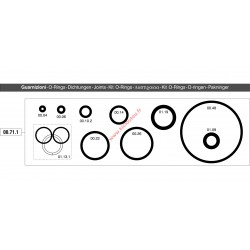 Kit joints O-rings Omer 00.71.1 pour cloueur Omer PR18