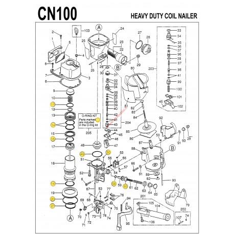 Kit joints MAX CN100 o-ring CN81061