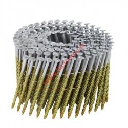 Pointes 16° 3.4x110 mm spiralées en rouleaux plats fil métal X 1800
