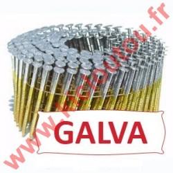 Pointes en rouleaux 16° 2.8x80 mm crantées galvanisé à chaud 50µ HDG