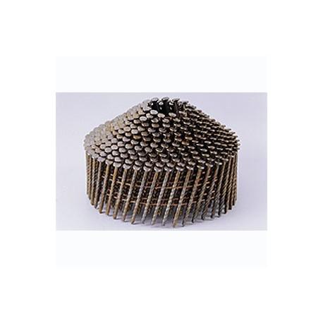 Pointes 16° 2.1x45 mm crantées électro galva en rouleaux coniques fil métal