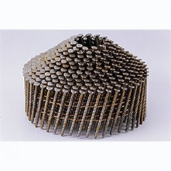 Pointes 16° 2.1x50 mm crantées électro galva en rouleaux coniques fil métal