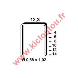 Agrafes 84 - 4mm Galva - Boite de 10000