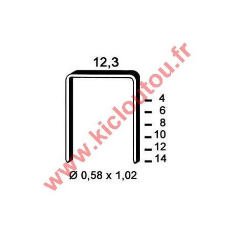 Agrafes 84 - 10mm Galva - Boite de 10000