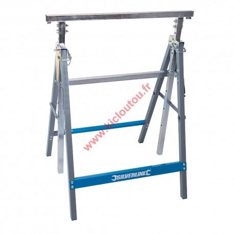 Silverline 226168 Tréteau usage intensif 150 kg Hauteur réglable