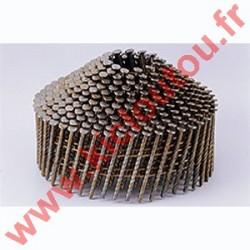 Pointes 16° 2.1x38 mm crantées INOX A2 TB en rouleaux coniques fil métal