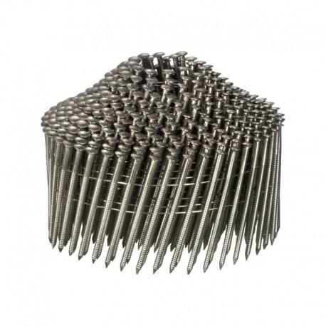 Pointes 16° 2.1x50 mm crantées INOX A2 TB en rouleaux coniques de 350 clous