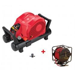 Lot MAX AKHL1260E avec enrouleur 30m et réducteur de pression