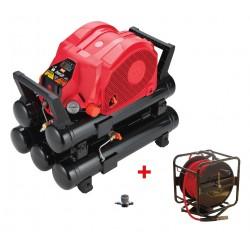 Lot MAX AKHL1260EX avec enrouleur 30m et réducteur de pression