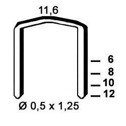 Agrafes STCR5019 - 10 mm - Boite de 5000