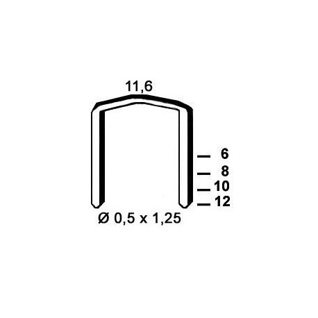 Agrafes STCR5019 - 12 mm