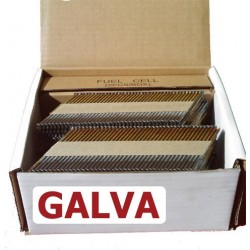 Pointes en bande 34° de 50mm crantée GALVA en boite de 2200 avec gaz
