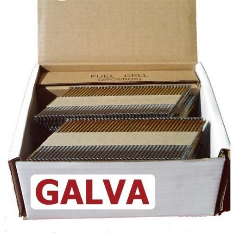 Pointes 34° RING GALVA 3.1x64 boite de 2000 avec gaz