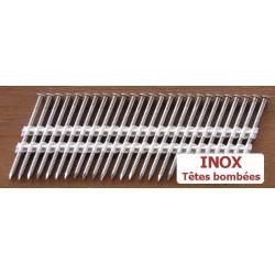 Pointes 34° INOX 3.1x50 TB CRANTEES boite de 2200 SANS gaz
