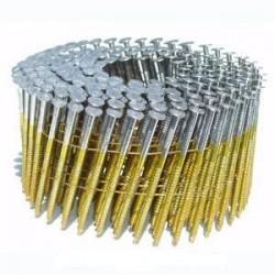 Pointes 16° 2.5x65 mm crantées en rouleaux plats fil métal X 7200