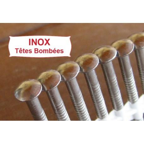 Pointes 20° INOX ANNELEES Têtes Bombées 2.8x63 boite de 2000