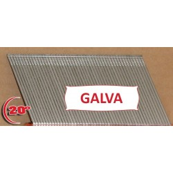 Clous TH Angle Brads 38 mm Galva 20° - Boite de 2000