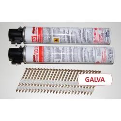 Pack Pointes 20° GALVA TORSADEES 3.1x90 boite de 2000 AVEC gaz